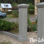 Особенности бетонных столбов и способы их установки