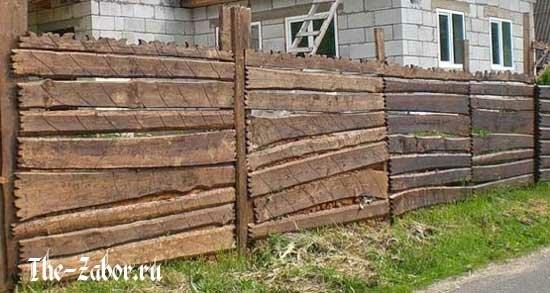 Забор своими руками для дачи из горбыля