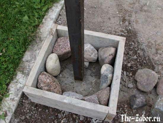 Строительство и отделка столбов из камня своими руками