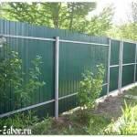 Забор из профлиста – строительство и установка ограждения из надежного материала